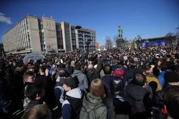 Задержание Навального в Москве. Обнародованы фото