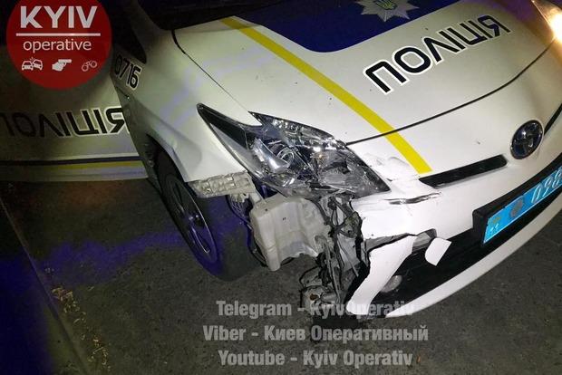 Патрульные столицы Украины стали жертвой автоугонщиков: появились фото ивидео