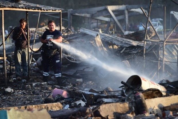 Взрыв на рынке фейерверков в Мексике: украинцы не пострадали