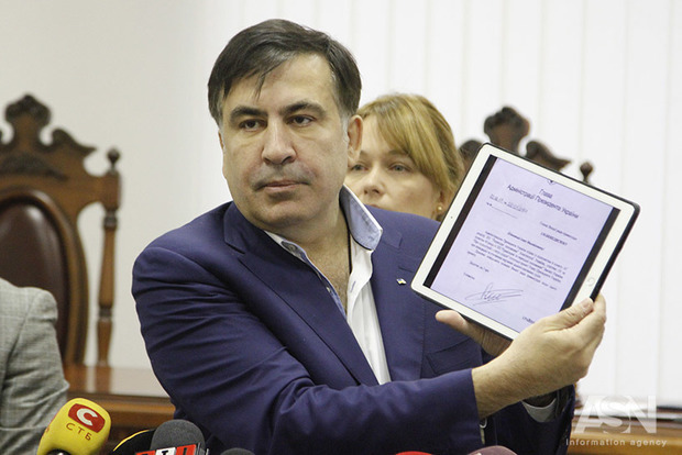 Саакашвили заявил о возвращении в Украину