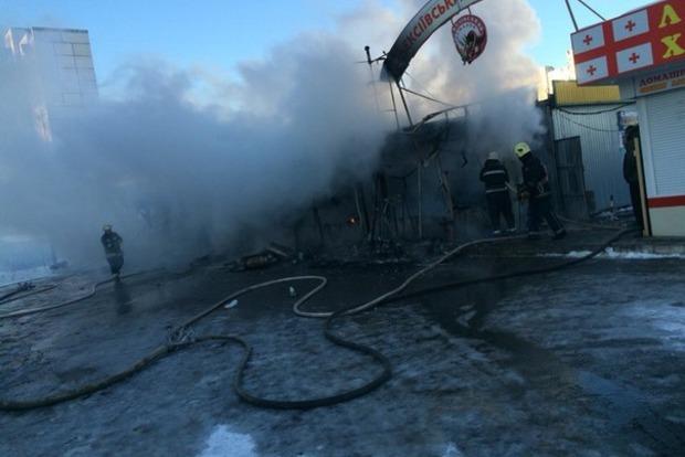 В Харькове горела ярмарка