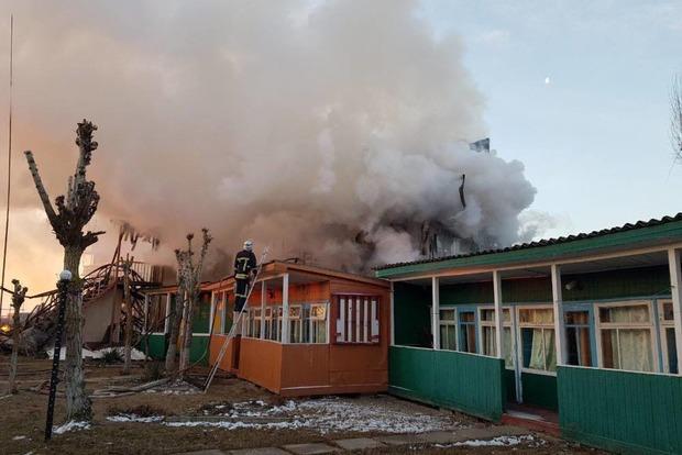 Под Одессой произошел масштабный пожар