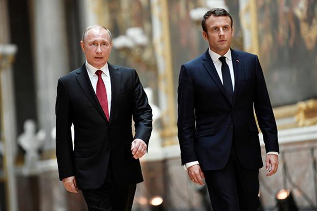 Макрон потребовал от Путина немедленно закончить войну на Донбасе