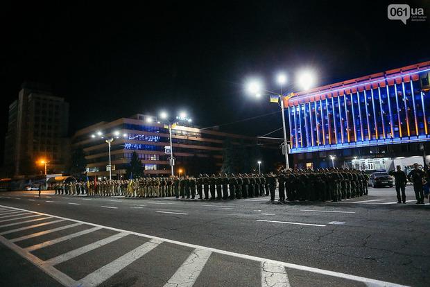 В Запорожье тоже пройдет военный парад. Фото репетиции