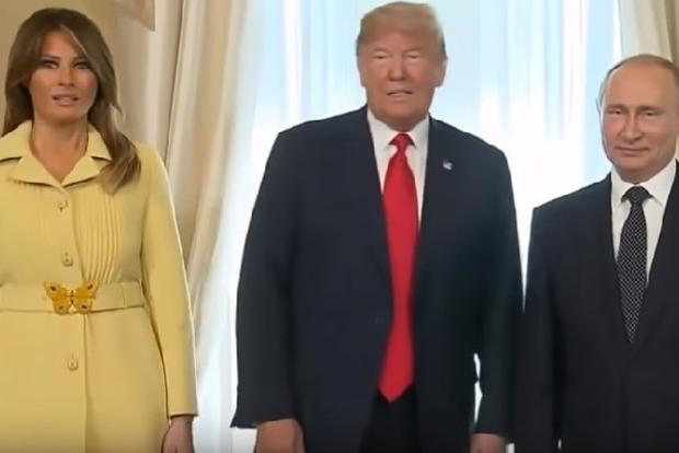 Перекосило от ужаса. Мелания Трамп выглядела шокированной на встрече с Путиным