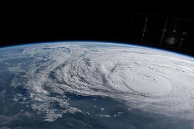 Мощный ураган «Харви». Появилось видео из космоса