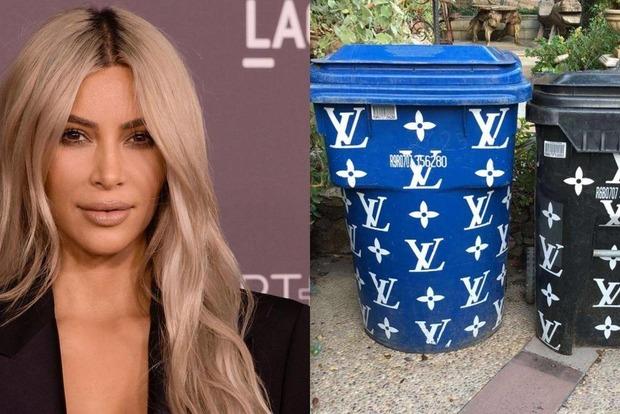 Мусорные баки от Louis Vuitton. Ким Кардашьян в буквальном смысле сорит деньгами