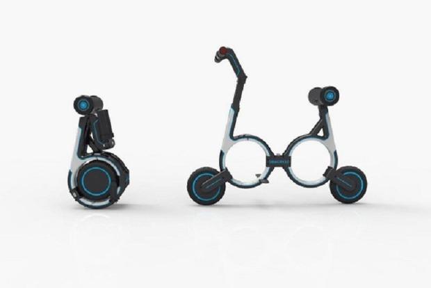 В Китае придумали велосипед размером с рюкзак