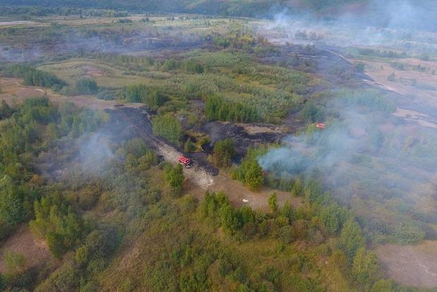 В Черкасской области объявлена ЧС из-за масштабного пожара на торфяниках