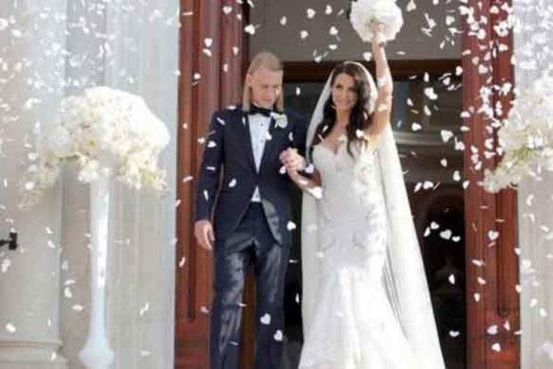 Футболист Динамо обвенчался с Мисс Хорватия-2014. Фото с церемонии