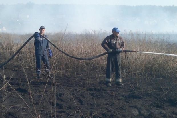 ГСЧС: Площадь горения торфяников на Киевщине уменьшилась