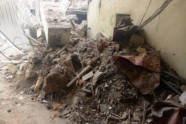 Жилой дом обвалился в центре Одессы