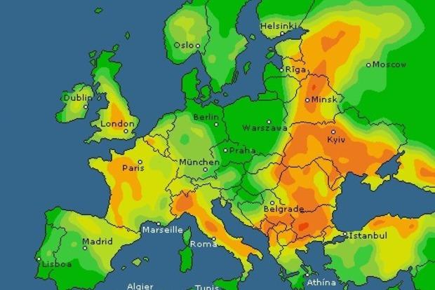 Грозы пройдут над Украиной, но некоторые районы останутся без дождя