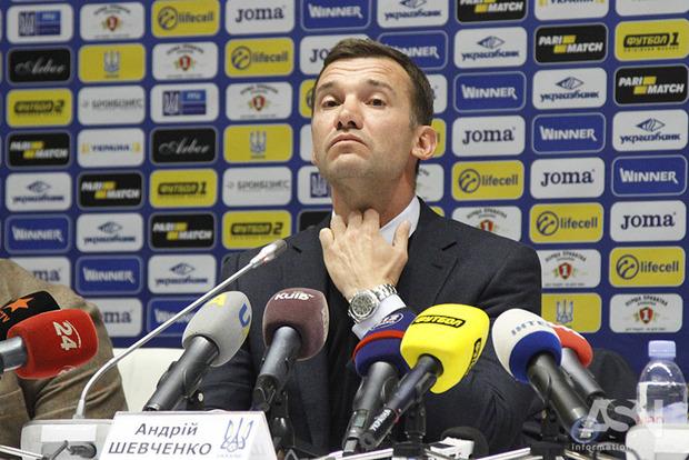 Шевченко взял на себя всю ответственность за невыход команды на чемпионат мира