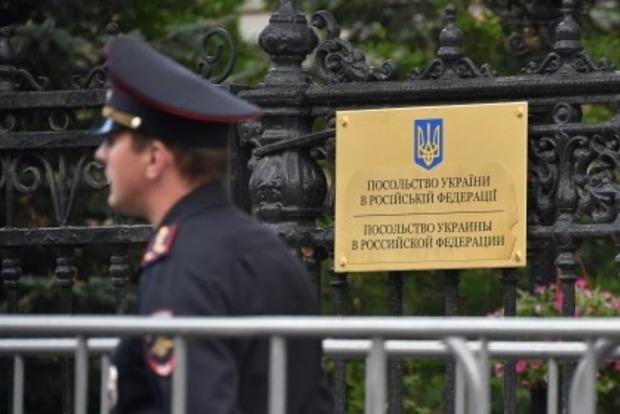 В Москве закидали яйцами украинское посольство