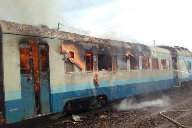 В Ивано-Франковской области загорелся пассажирский поезд