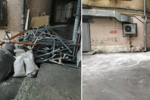 Столичные коммунальщики предупредили, что за строительный мусор во дворе жителей ожидает штраф 1360 грн.