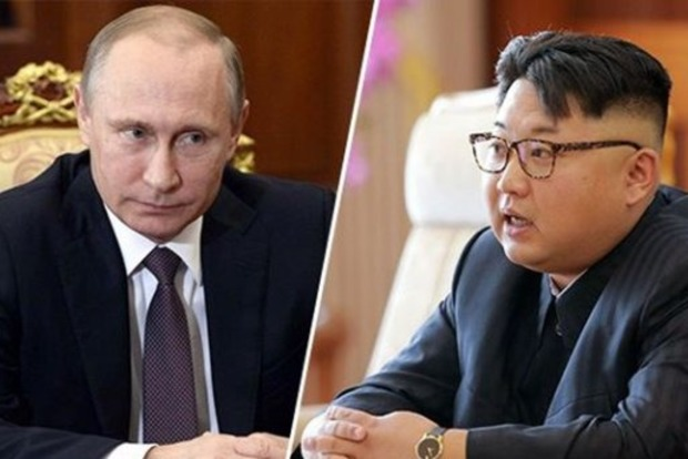 Рыжий Путин и поджарый Ким Чен Ын из воска насмешили толпу