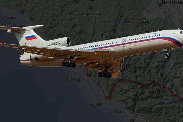 Самолет Ту-154 перед падением успел подняться на высоту 250 метров