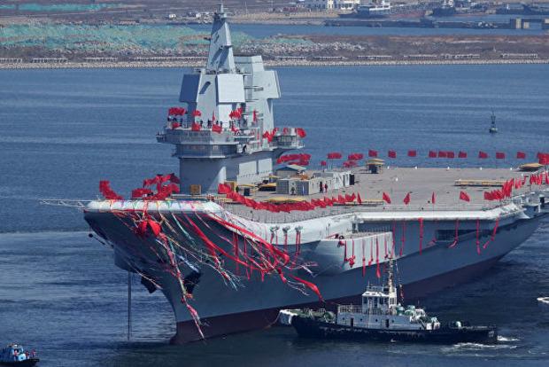 Китай проводить випробування першого авіаносця власної розробки