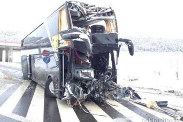 Автобус с украинцами разбился в Словакии, погибли 3 пассажира