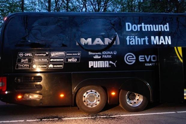Взрыв автобуса в Дортмунде. Ранен футболист