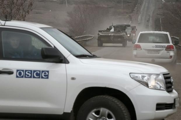 На Донбассе боевики бросили дымовую гранату в патруль СММ ОБСЕ