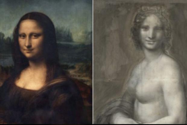 Во Франции обнаружен эскиз обнаженной Моны Лизы