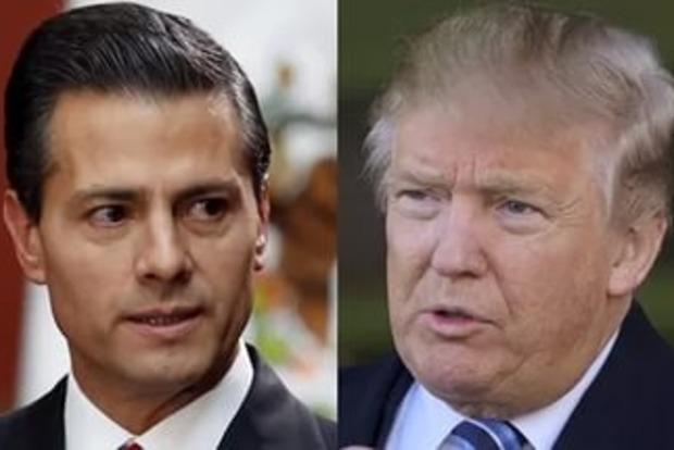 Стена, оружие, наркотики: Трамп час беседовал с президентом Мексики