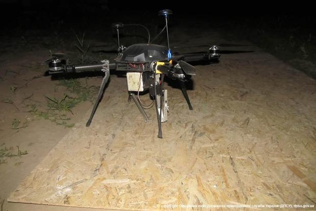 Пограничники нашли квадрокоптер, на котором через границе переправляли сигареты (фото)