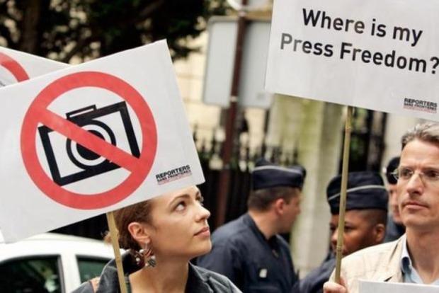 Украина поднялась на пять позиций в рейтинге свободы СМИ, а США - опустились на две