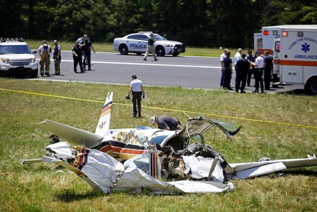 В США разбился небольшой самолет, два человека погибли