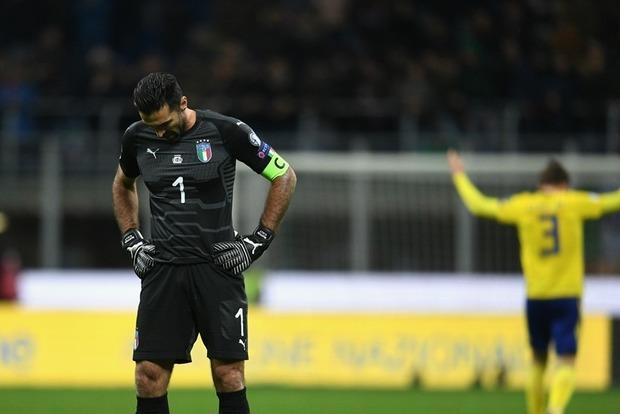Сборная Италии пофутболу несмогла завоевать путевку в РФ