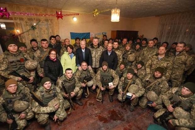 Президент и сенаторы США в Широкино поздравили бойцов ВСУ с Новым годом