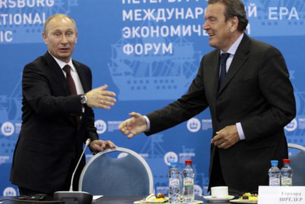Путин собирается явиться на пятую свадьбу престарелого Шредера