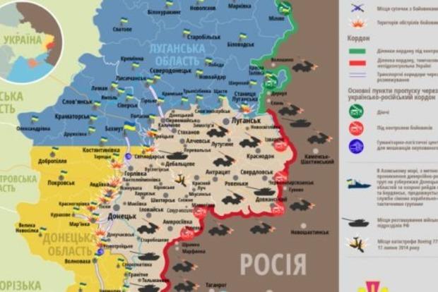 Карта ООС и ситуация в зоне боевых действий на 1 мая