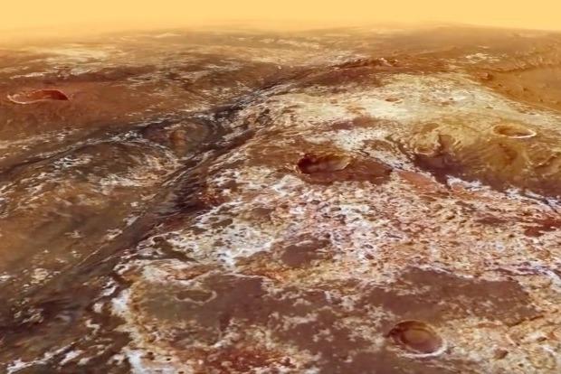 Космическое агентство опубликовало видео полета над Марсом