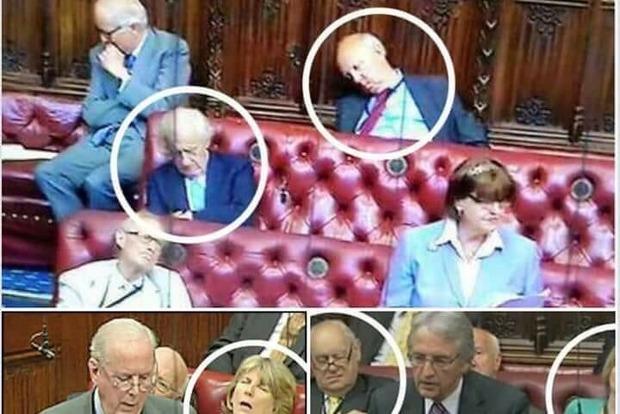 Британським лордам заборонили спати і кричати в парламенті