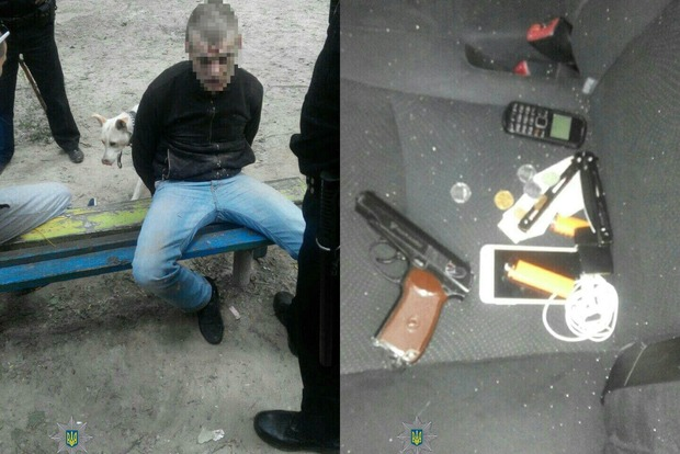 В Киеве пьяный мужчина стрелял на детской площадке