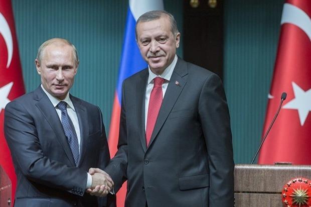 Президент Турции прибыл в Санкт-Петербург на встречу с Путиным