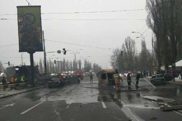 ЗМІ: УКиєві наЗаболотного сталася аварія зподальшою пожежею