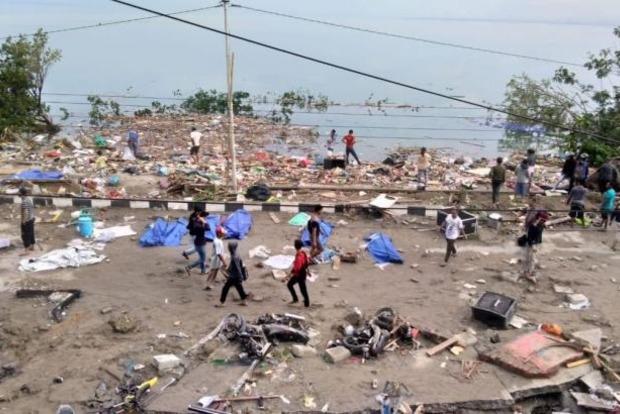Жертвами землетрясения и цунами в Индонезии стали почти 50 человек