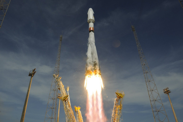 Появилось видео катастрофического запуска ракеты «Союз»