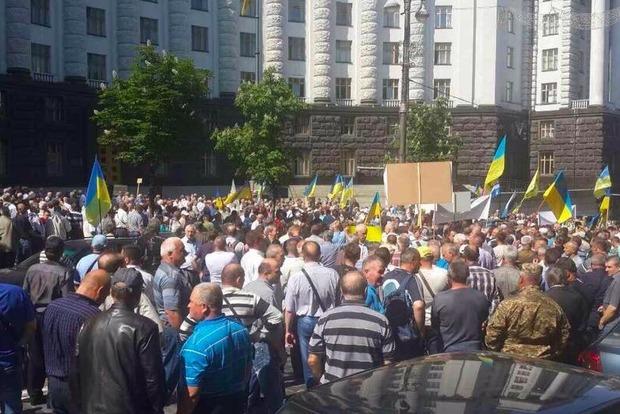 Квартал между Радой и Кабмином заблокирован протестующими