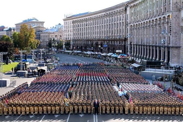 Слава Украине! Героям Слава! В Киеве на Крещатике начался парад ко Дню Независимости