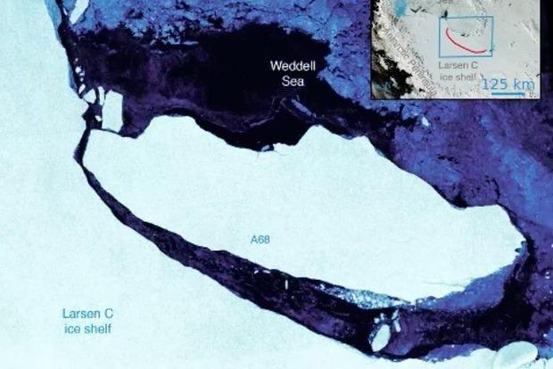 Появились захватывающие фото гигантского айсберга, отколовшегося от Антарктиды