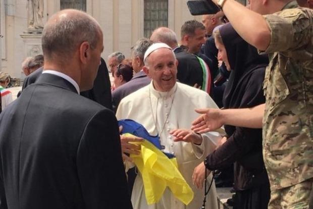Украинские военные встретились с Папой Римским