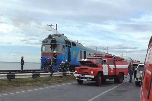 В Черкасской области на ходу загорелся поезд с пассажирами