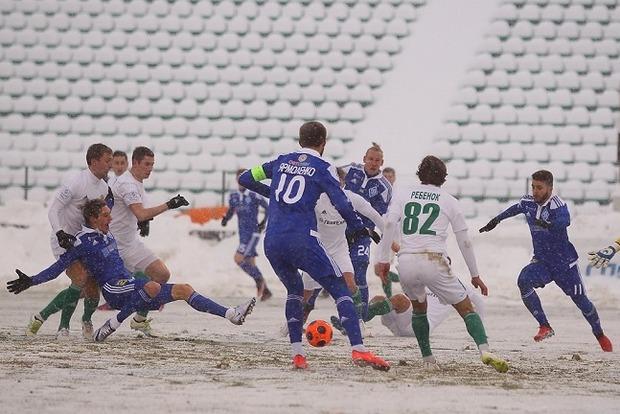 «Динамо» опозорилось в заснеженной Полтаве