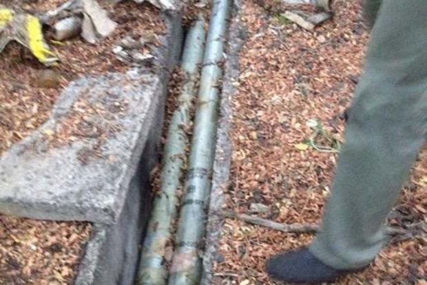 В Донецкой области нашли тайник с боеприпасами для «Града»